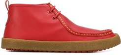 low ankle boots - Red