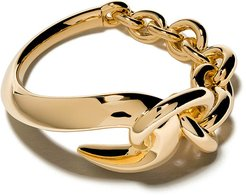 Hook chain ring - YELLOW GOLD VERMEIL