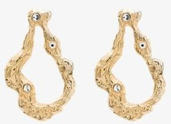 18K gold-plated Diana drop earrings