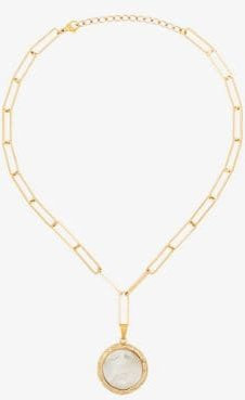 18K gold-plated Erin mother of pearl pendant necklace