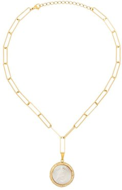 Erin 18K gold-plated mother of pearl necklace