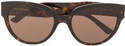 Flat Butterfly sunglasses - Black