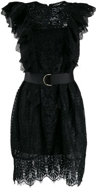 Vamos lace embroidered dress - Black