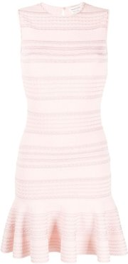 scalloped peplum dress - PINK