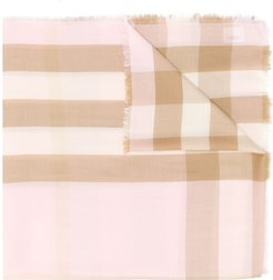 cashmere Check scarf - PINK