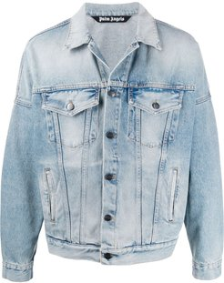 logo denim jacket - Blue