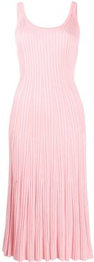 ribbed knitted dress - PINK