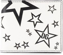 star print wallet - White
