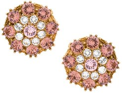 crystal-embellished round earrings - GOLD