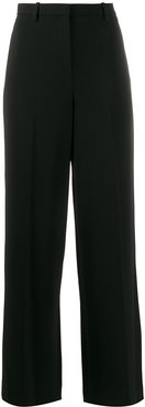 high-waisted wide trousers - Black