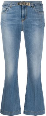 cropped flared jeans - Blue