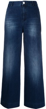 high-rise wide-leg jeans - Blue