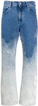 shaped baggy bleached jeans - Blue