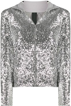 sequinned jacket - SILVER