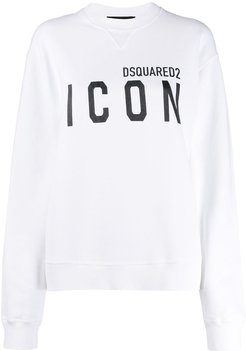 Icon print sweatshirt - White