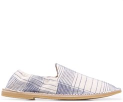 checked loafers - NEUTRALS