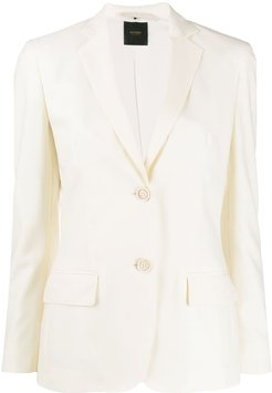 flap-pocket fitted jacket - Neutrals