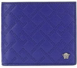 embossed greca wallet - PURPLE