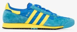 blue and yellow SL 80 suede sneakers