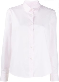 long-sleeve flared shirt - PINK