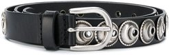 stud-embellished belt - Black
