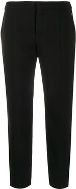 tailored straight-leg trousers - Black