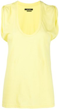 casual fit tank top - Yellow