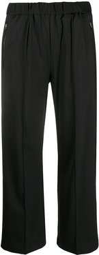 cropped track pants - Black