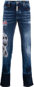 Star mid-rise straight jeans - Blue