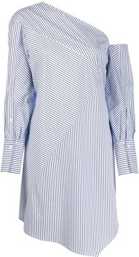 striped patchwork tunic - Blue
