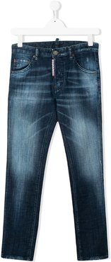 TEEN faded slim-fit jeans - Blue