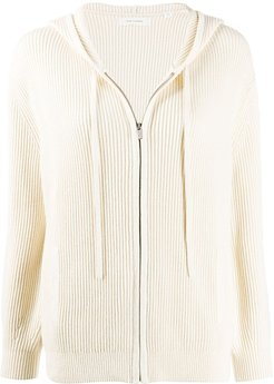 ribbed knit cardigan - NEUTRALS