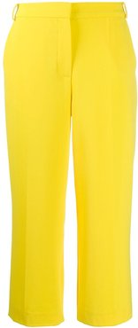 cropped straight-leg trousers - Yellow