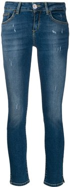 mid-rise skinny jeans - Blue