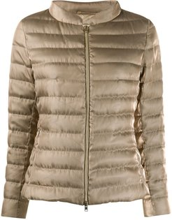 padded puffer jacket - GOLD