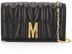 monogram quilted evening bag - Black