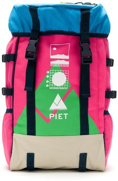 EEU color block backpack - PINK