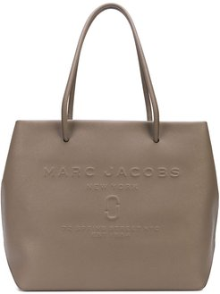 The East West logo shopper tote bag - Brown
