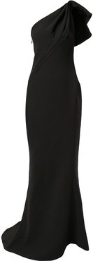 Accompany one-shoulder gown - Black