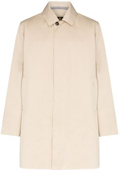 Selkig single-breasted overcoat - NEUTRALS