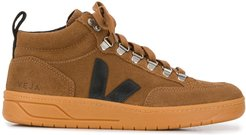 logo hi-top sneakers - Brown