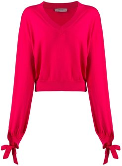 boxy knitted jumper - PINK