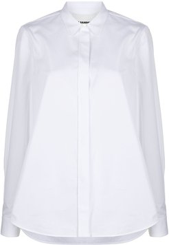 concealed fastening shirt - White
