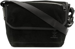 panelled messenger bag - Black