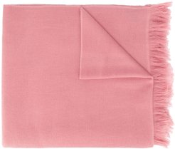 Carlyn fringed cashmere scarf - PINK