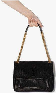 black Niki medium chain strap shoulder bag