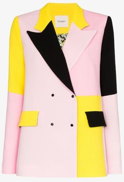 Brøgger Gurli colour block wool blazer