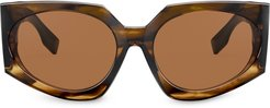 oversized sunglasses - Brown