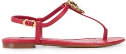 Devotion flat sandals - Red