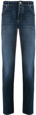 slim-fit stonewashed jeans - Blue